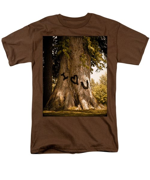 Carve I Love You In That Big White Oak Men's T-Shirt  (Regular Fit) by Trish Tritz