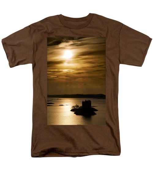 Castle Stalker At Sunset, Loch Laich Men's T-Shirt  (Regular Fit) by John Short