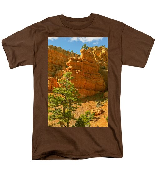 Men's T-Shirt  (Regular Fit) featuring the photograph Casto Canyon by Peter J Sucy