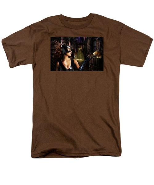 Cat Woman Men's T-Shirt  (Regular Fit) by Alessandro Della Pietra