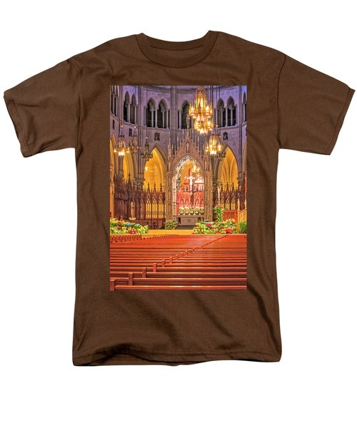 Men's T-Shirt  (Regular Fit) featuring the photograph Cathedral Basilica Of The Sacred Heart Newark Nj by Susan Candelario