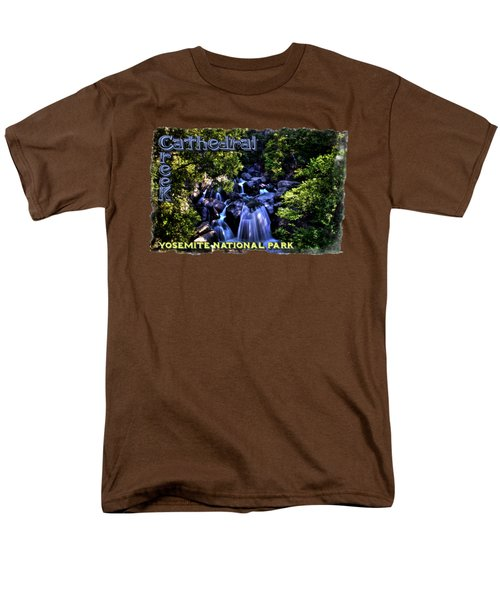 Cathedral Creek Cascade On The Tioga Pass Men's T-Shirt  (Regular Fit) by Roger Passman