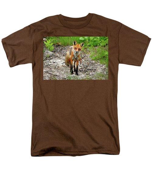 Men's T-Shirt  (Regular Fit) featuring the photograph Cautious But Curious Red Fox Portrait by Debbie Oppermann