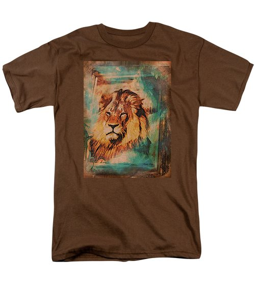 Men's T-Shirt  (Regular Fit) featuring the digital art Cecil The Lion by Kathy Kelly