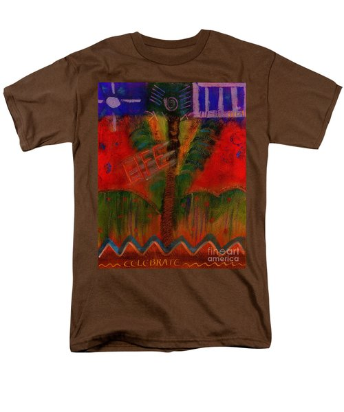 Men's T-Shirt  (Regular Fit) featuring the painting Celebrate Life by Angela L Walker