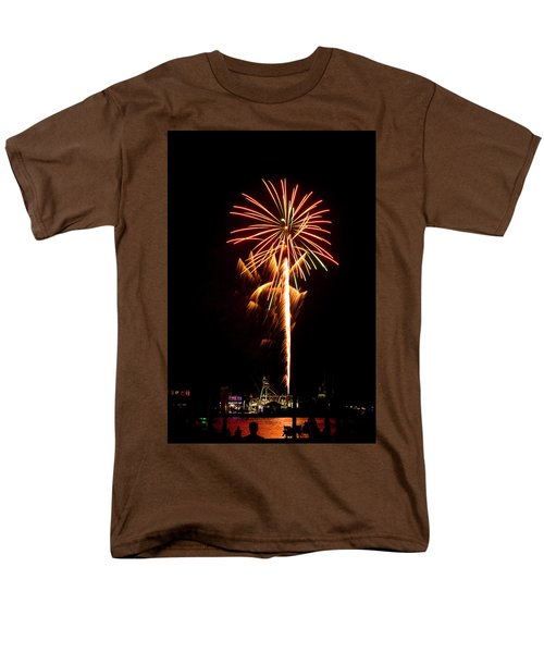 Men's T-Shirt  (Regular Fit) featuring the photograph Celebration Fireworks by Bill Barber