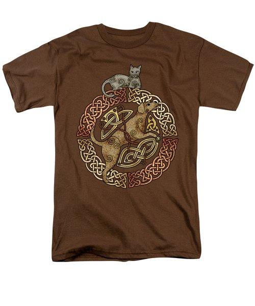 Celtic Cat And Dog Men's T-Shirt  (Regular Fit) by Kristen Fox