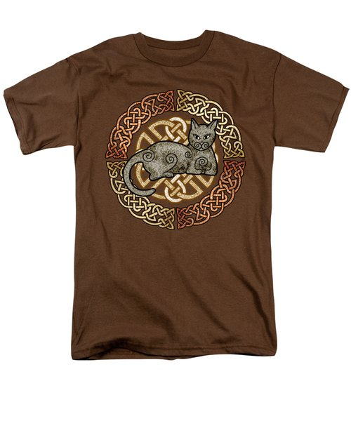 Men's T-Shirt  (Regular Fit) featuring the mixed media Celtic Cat by Kristen Fox