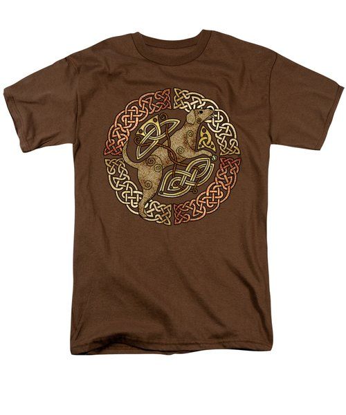 Men's T-Shirt  (Regular Fit) featuring the mixed media Celtic Dog by Kristen Fox