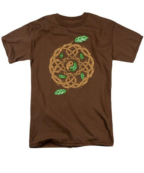 Celtic Nature Yin Yang Men's T-Shirt  (Regular Fit) by Kristen Fox