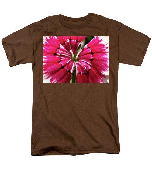 Center Of A Sweet William Men's T-Shirt  (Regular Fit) by Mary Ellen Frazee