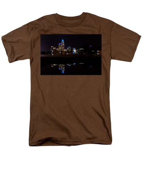 Men's T-Shirt  (Regular Fit) featuring the photograph Charlotte Reflection At Night by Serge Skiba