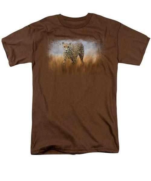 Cheetah In The Field Men's T-Shirt  (Regular Fit) by Jai Johnson