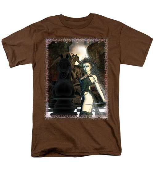 Chess 3d Fantasy Art Men's T-Shirt  (Regular Fit) by Sharon and Renee Lozen