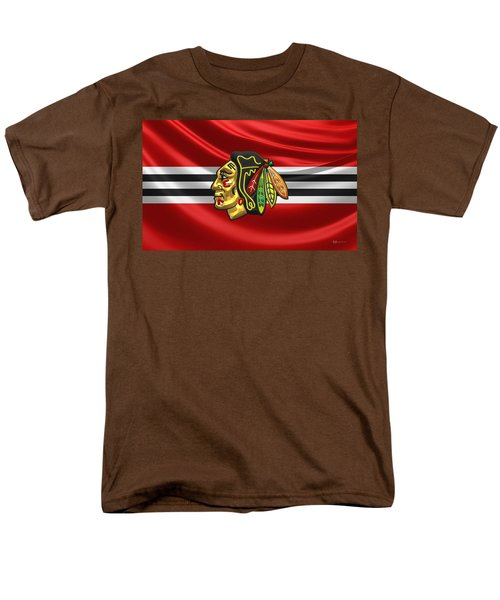 Chicago Blackhawks Men's T-Shirt  (Regular Fit) by Serge Averbukh