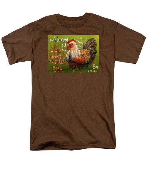 Chicken Welcome Sign 4 Men's T-Shirt  (Regular Fit)