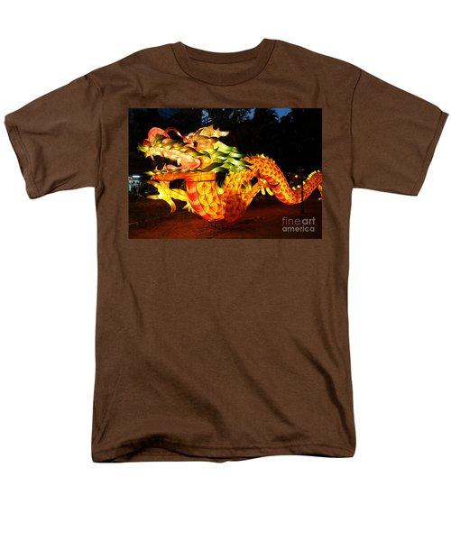 Men's T-Shirt  (Regular Fit) featuring the photograph Chinese Lantern In The Shape Of A Dragon by Yali Shi