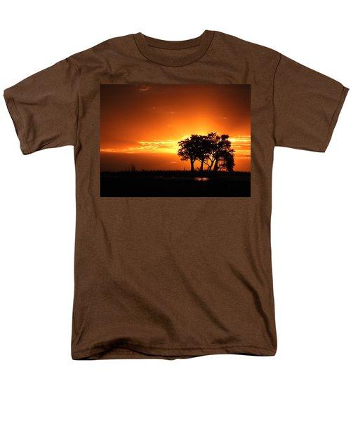 Men's T-Shirt  (Regular Fit) featuring the photograph Chobe River Sunset by Betty-Anne McDonald