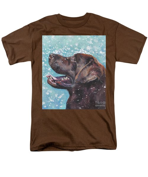 Men's T-Shirt  (Regular Fit) featuring the painting Chocolate Labrador Retriever by Lee Ann Shepard