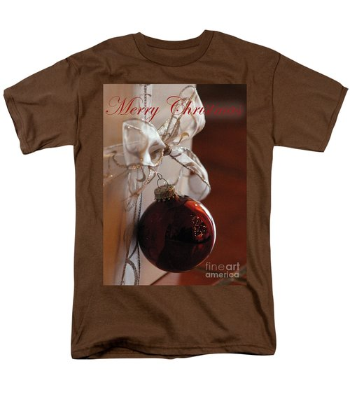 Christmas Ball And Bow Men's T-Shirt  (Regular Fit) by Alycia Christine