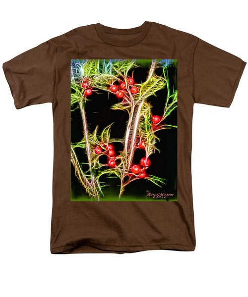 Men's T-Shirt  (Regular Fit) featuring the photograph Christmas Berries by EricaMaxine  Price