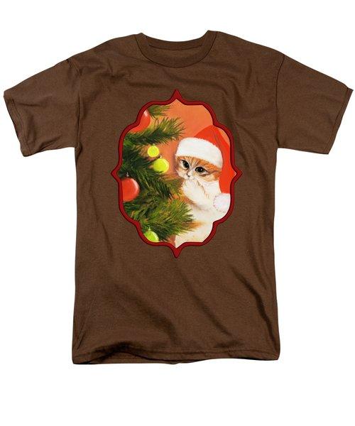 Christmas Kitty Men's T-Shirt  (Regular Fit) by Anastasiya Malakhova