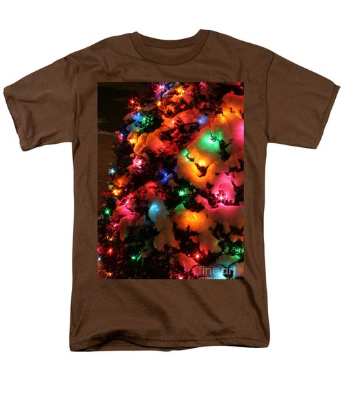 Christmas Lights Coldplay Men's T-Shirt  (Regular Fit) by Wayne Moran