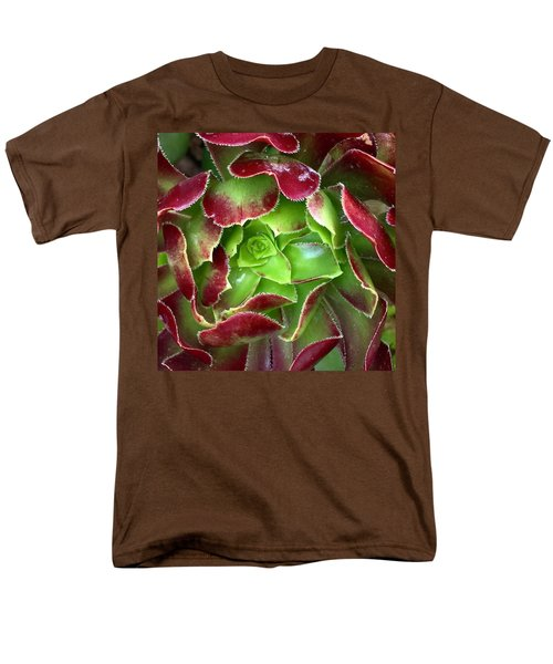 Christmas Succulent Men's T-Shirt  (Regular Fit) by Russell Keating