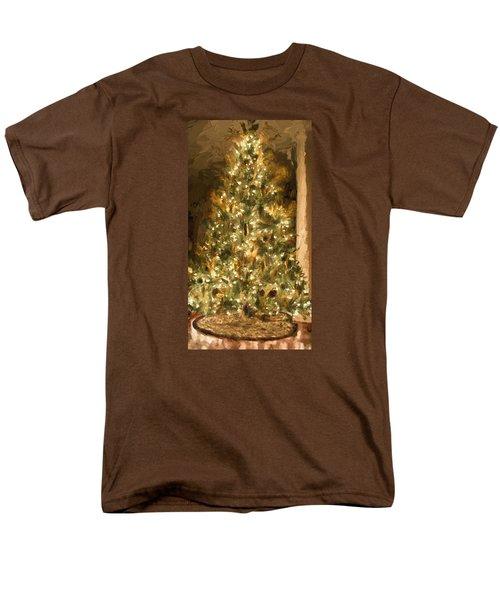 Christmas Tree Men's T-Shirt  (Regular Fit) by Cathy Jourdan