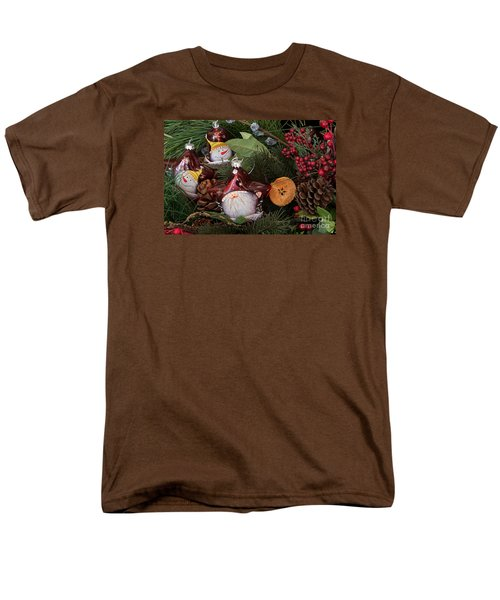 Men's T-Shirt  (Regular Fit) featuring the photograph Christmas Tree Decor by Vinnie Oakes
