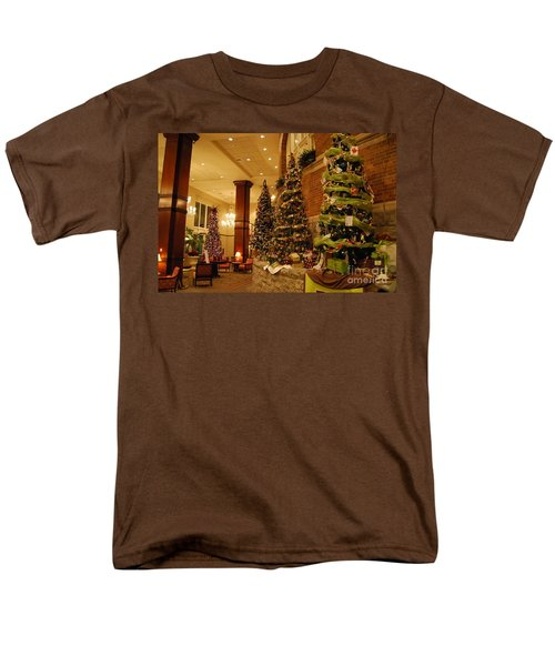 Christmas Tree Men's T-Shirt  (Regular Fit) by Eric Liller