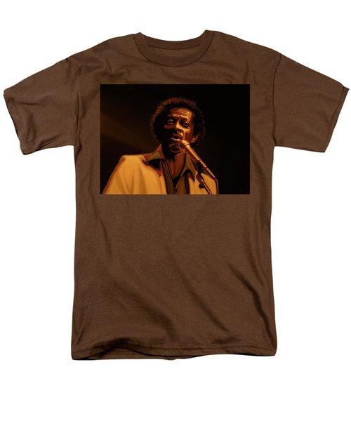 Chuck Berry Gold Men's T-Shirt  (Regular Fit) by Paul Meijering