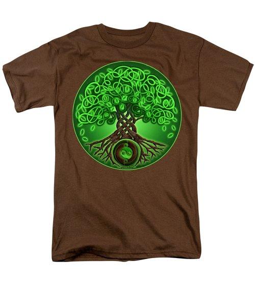 Circle Celtic Tree Of Life Men's T-Shirt  (Regular Fit) by Kristen Fox