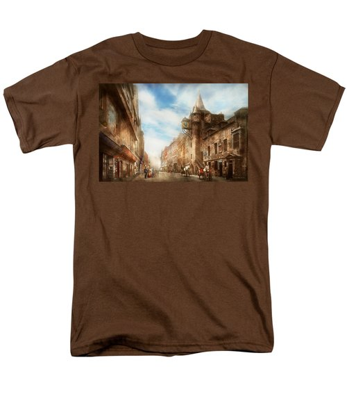 Men's T-Shirt  (Regular Fit) featuring the photograph City - Scotland - Tolbooth Operator 1865 by Mike Savad