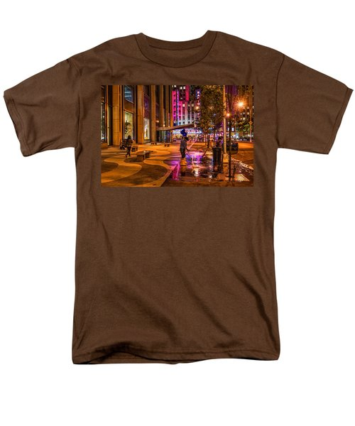 Cleaning With Neon Men's T-Shirt  (Regular Fit) by Jeffrey Friedkin