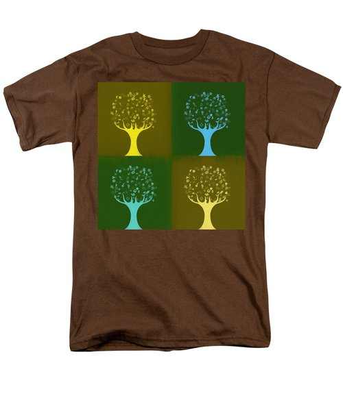 Men's T-Shirt  (Regular Fit) featuring the mixed media Clip Art Trees by Dan Sproul