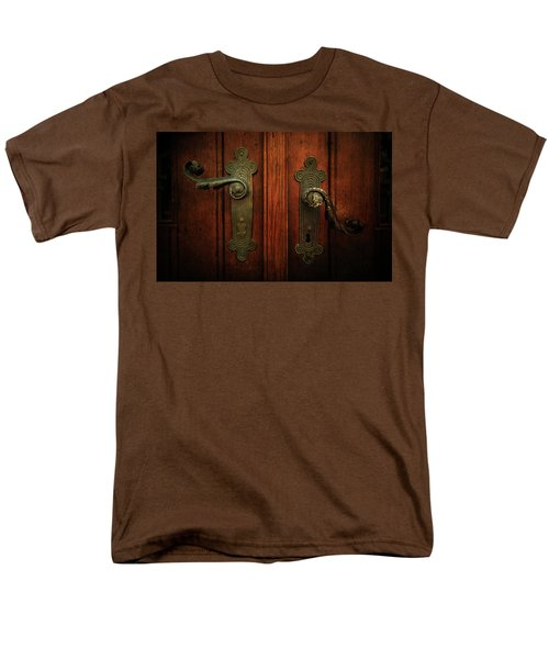 Closeup Of Two Ornamented Handles Men's T-Shirt  (Regular Fit) by Jaroslaw Blaminsky