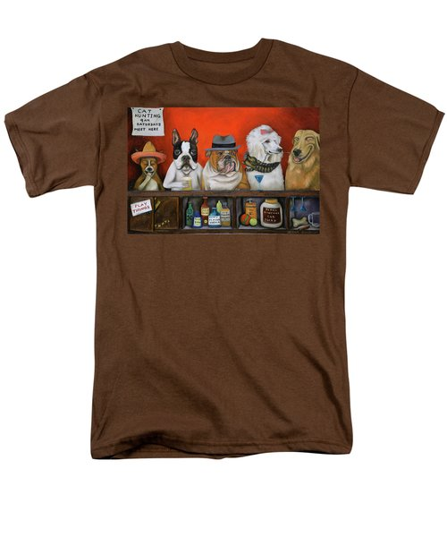Men's T-Shirt  (Regular Fit) featuring the painting Club K9 by Leah Saulnier The Painting Maniac