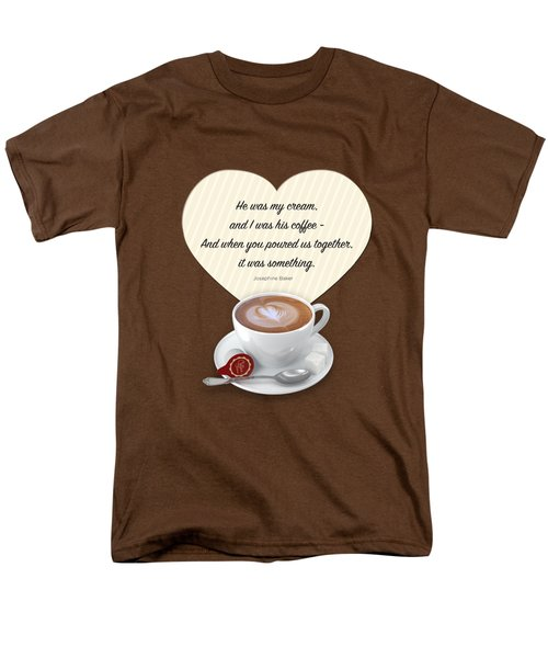 Coffee And Cream Men's T-Shirt  (Regular Fit) by Mary Machare