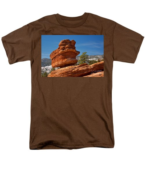 Men's T-Shirt  (Regular Fit) featuring the photograph Colorado Springs Balanced Rock by Adam Jewell
