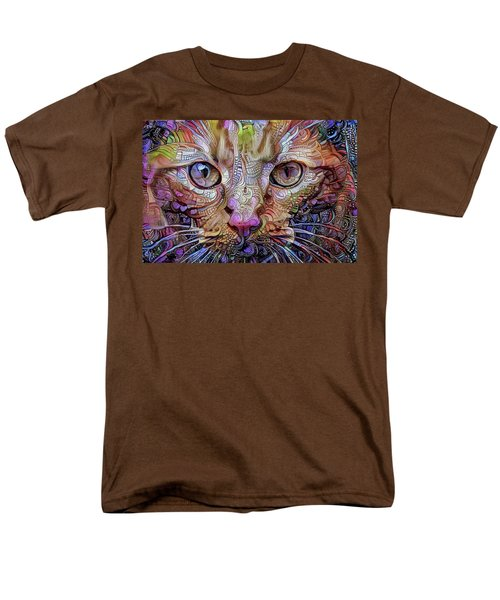 Colorful Cat Art Men's T-Shirt  (Regular Fit) by Peggy Collins