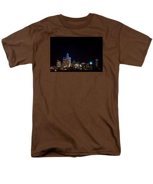 Men's T-Shirt  (Regular Fit) featuring the photograph Colorful Charlotte, North Carolina Skyline by Serge Skiba