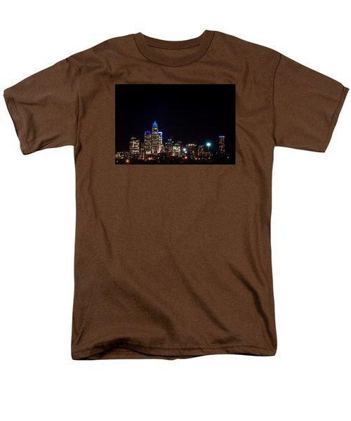 Colorful Charlotte, North Carolina Skyline Men's T-Shirt  (Regular Fit) by Serge Skiba