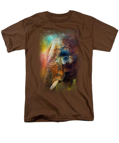 Colorful Expressions Elephant Men's T-Shirt  (Regular Fit) by Jai Johnson