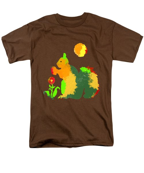 Colorful Squirrel 1 Men's T-Shirt  (Regular Fit) by Holly McGee