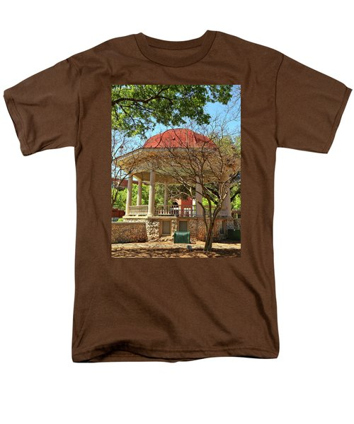 Comal County Gazebo In Main Plaza Men's T-Shirt  (Regular Fit) by Judy Vincent