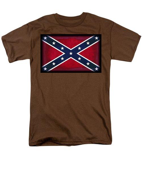 Confederate Rebel Battle Flag Men's T-Shirt  (Regular Fit) by Daniel Hagerman