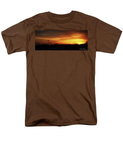 Connecticut Sunset Men's T-Shirt  (Regular Fit) by Gordon Mooneyhan