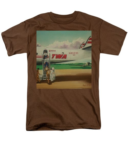 Connie Crew Deplaning At Columbus Men's T-Shirt  (Regular Fit) by Frank Hunter