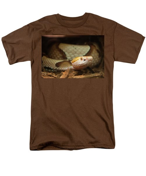 Men's T-Shirt  (Regular Fit) featuring the digital art Copperhead by Chris Flees